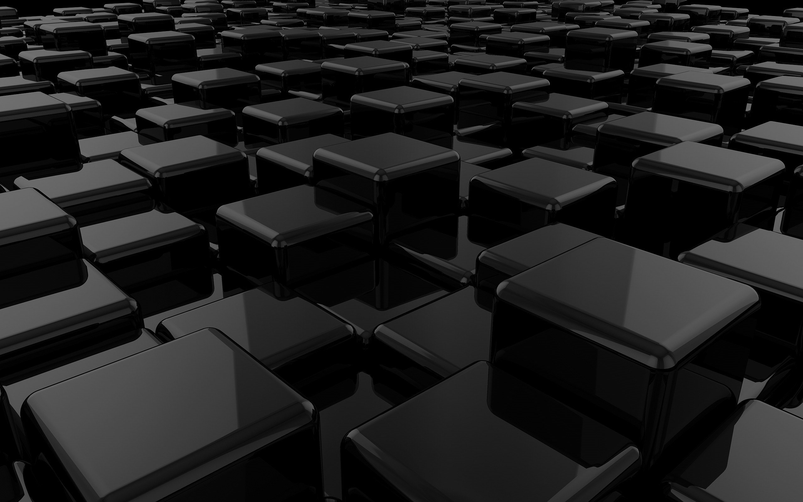 Black 3D Wallpapers 2560x1600