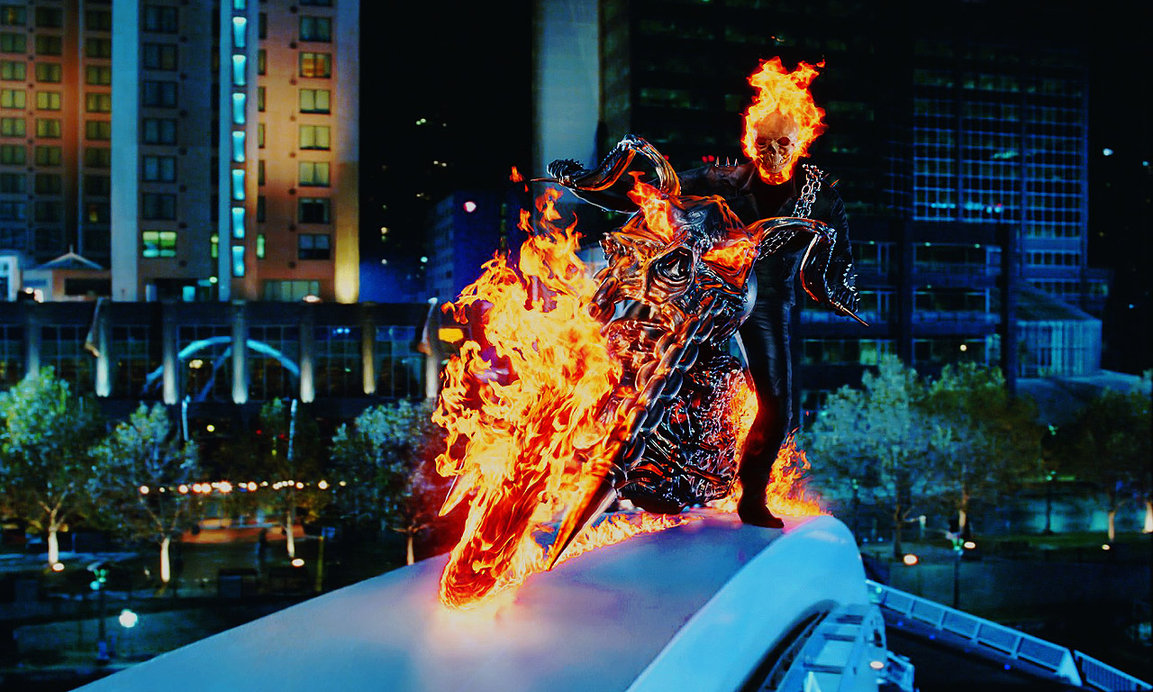 Blue Ghost Rider Wallpaper Ghost rider   sliding by 1153x692
