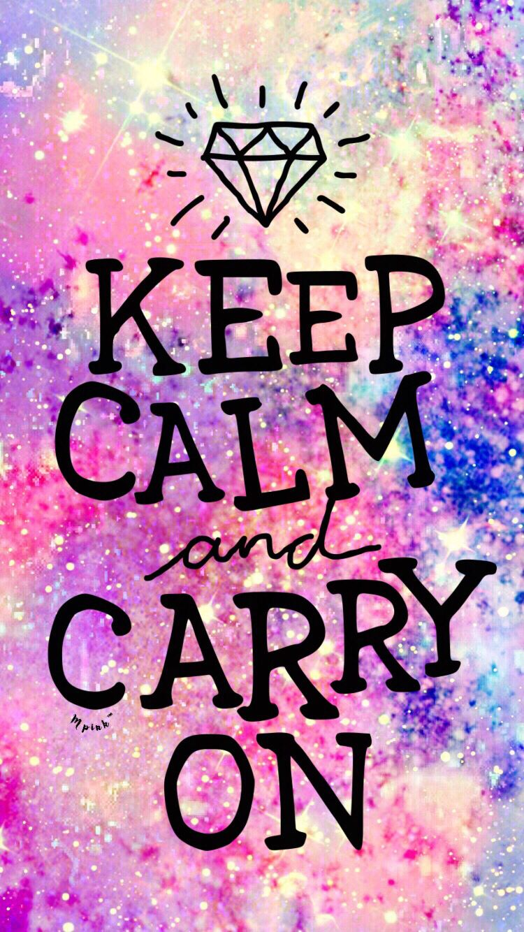 Keep Calm Galaxy Wallpaper With images Galaxy wallpaper 750x1334
