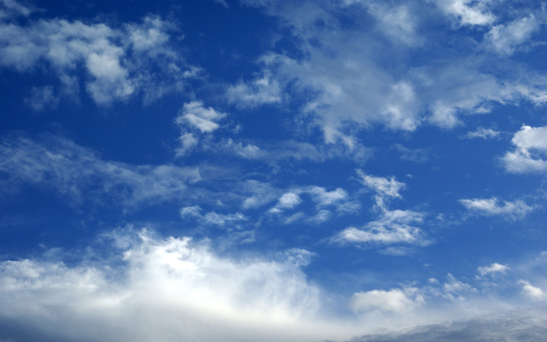 blue sky and clouds photo 1920x1201