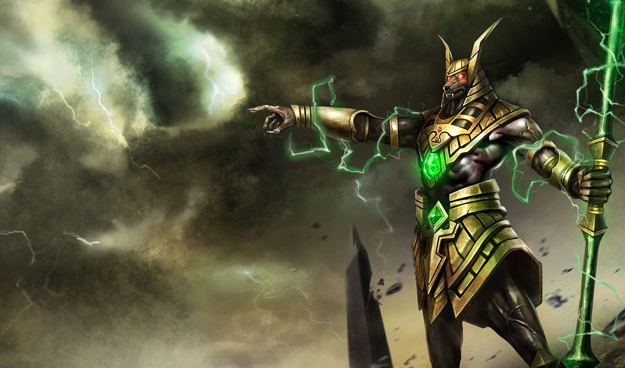 League of Legends Wallpaper Nasus   The Curator of the Sands 1215x717