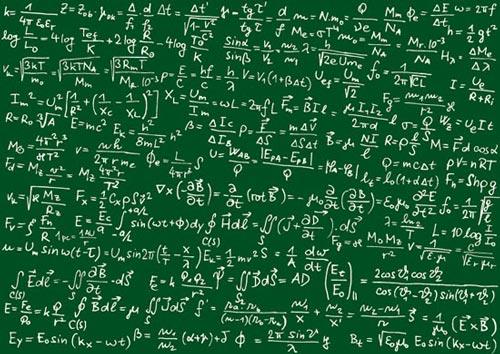 Physics Equations Wallpaper Math formulas vector on green