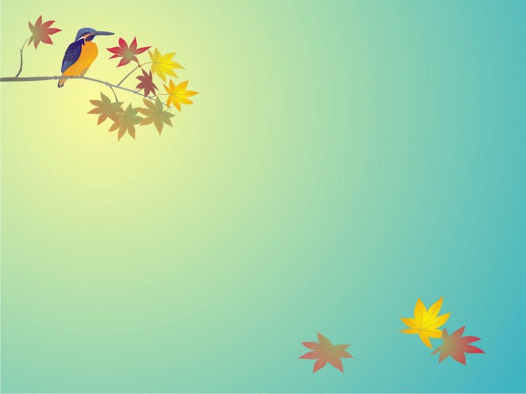 Animal Bird Background powerpoint Cartoon background Ppt slide 1024x768