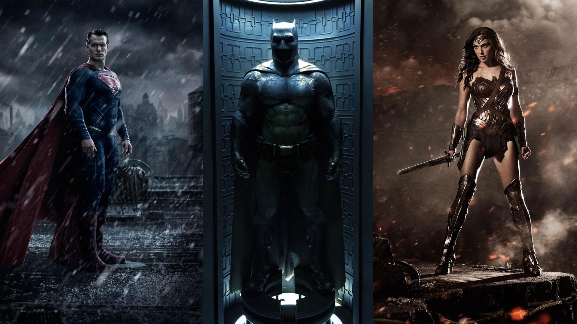 Batman Superman Wonder Woman Wallpaper Wallpapersafari