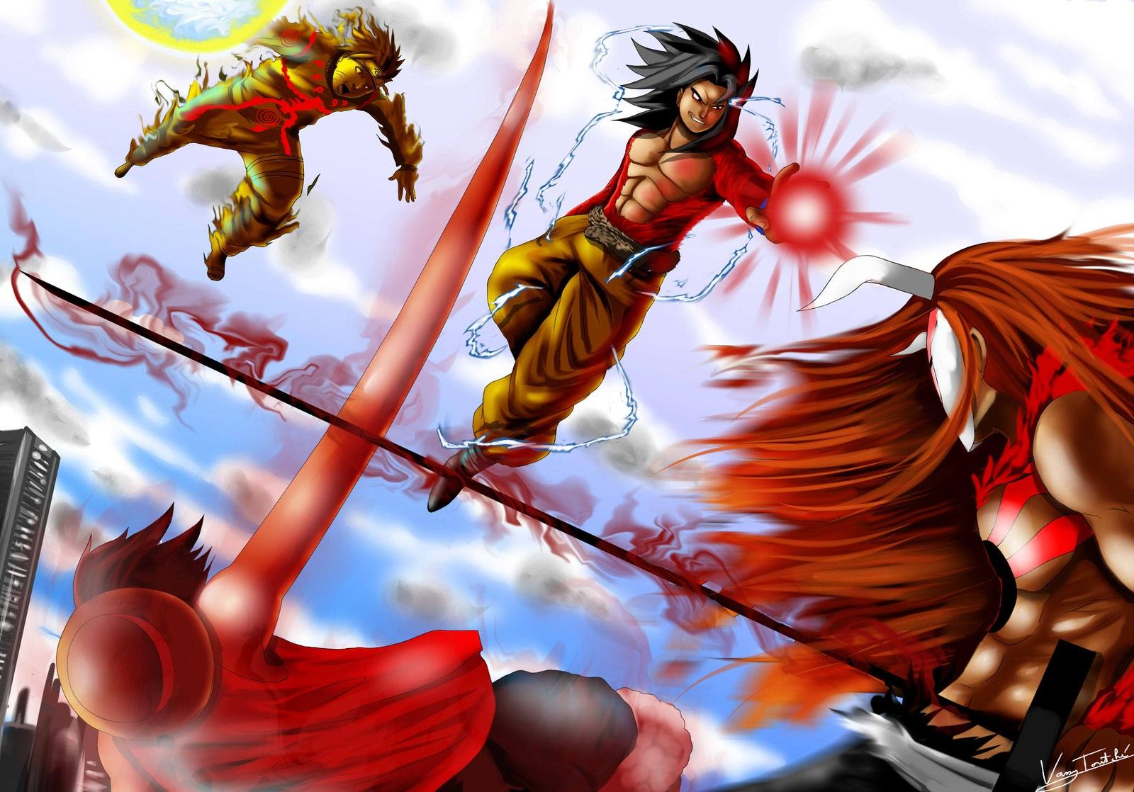 Goku VS Naruto Luffy Ichigo wallpaper   ForWallpapercom 1600x1118