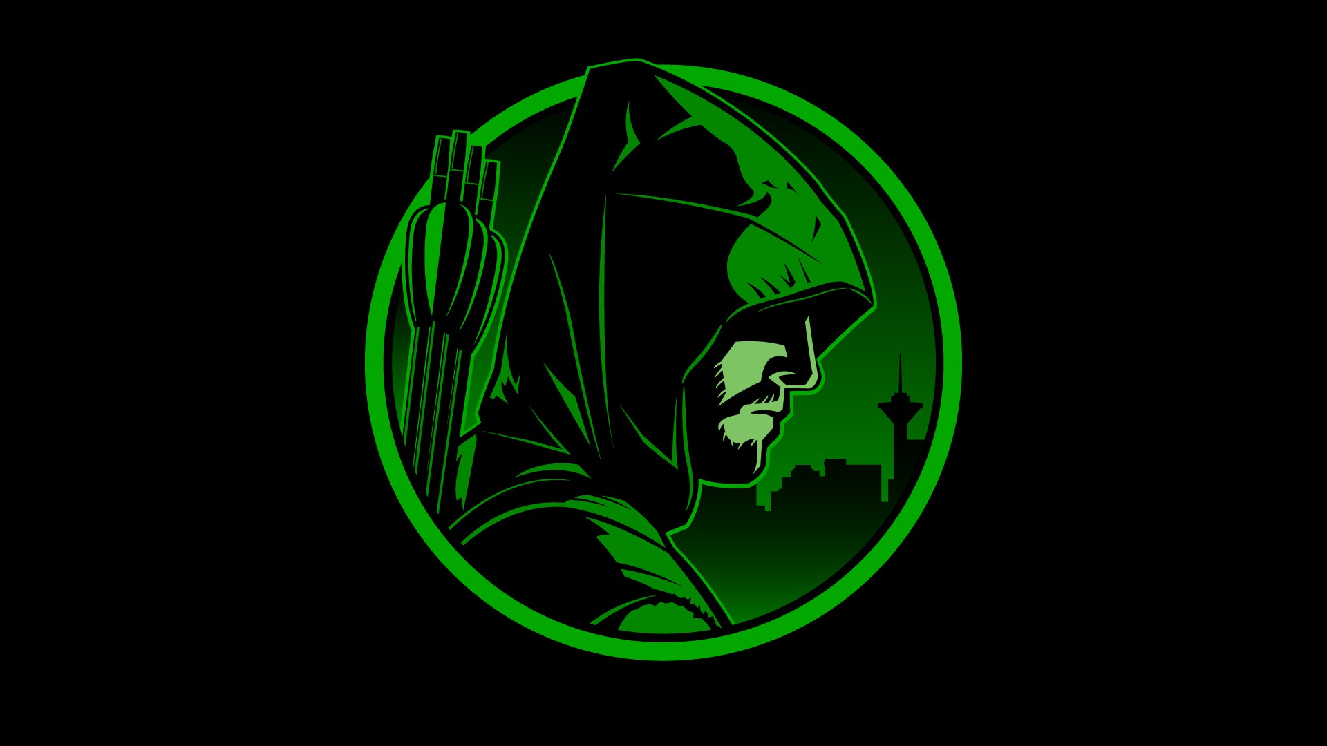 Arrow Tv Logo Arrow in the style of the dick 1920x1080
