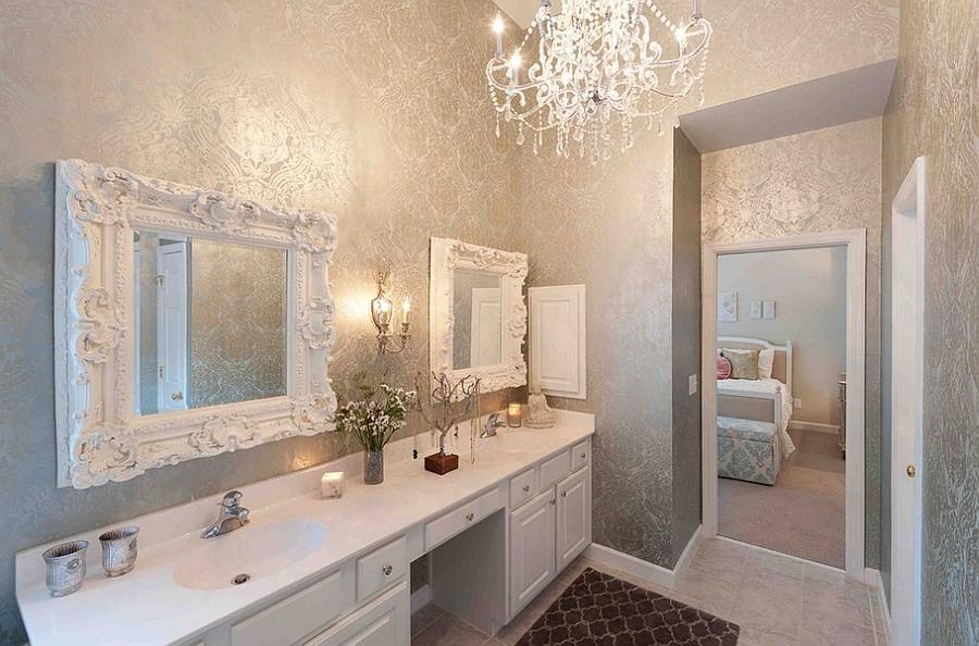 metallic silver in the bathroom [By Heather ODonovan Interior Design 900x594
