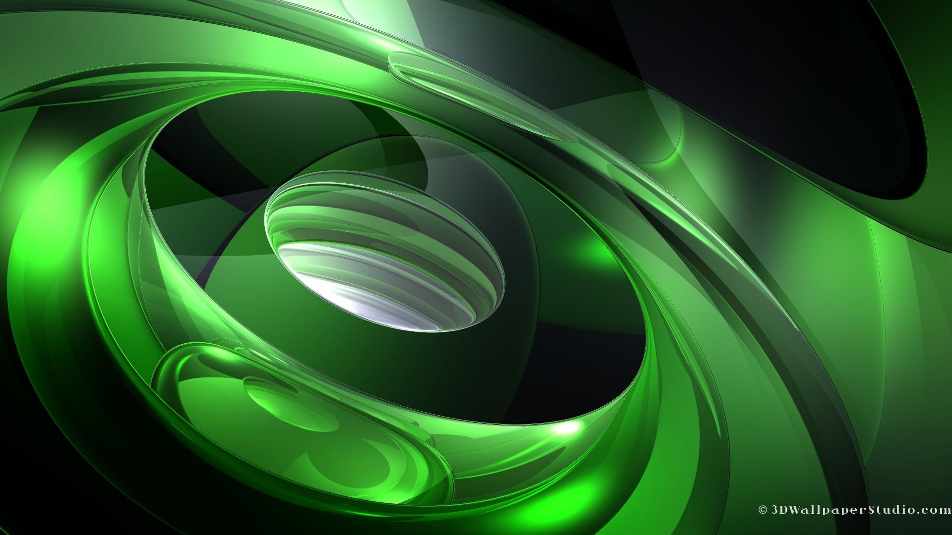 3D Wallpaper 3d abstract sound of green 1920 x 1080 1920x1080