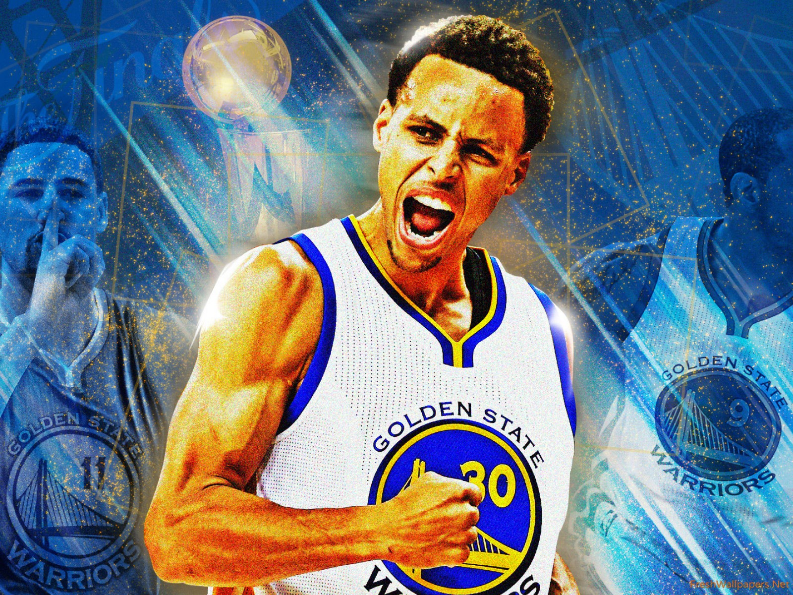 Golden State Warriors Finals Trophy   wallpaper 1600x1200