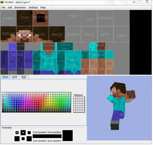 screenshot for Minecraft SkinEdit   Create Your Own Minecraft skins 500x473