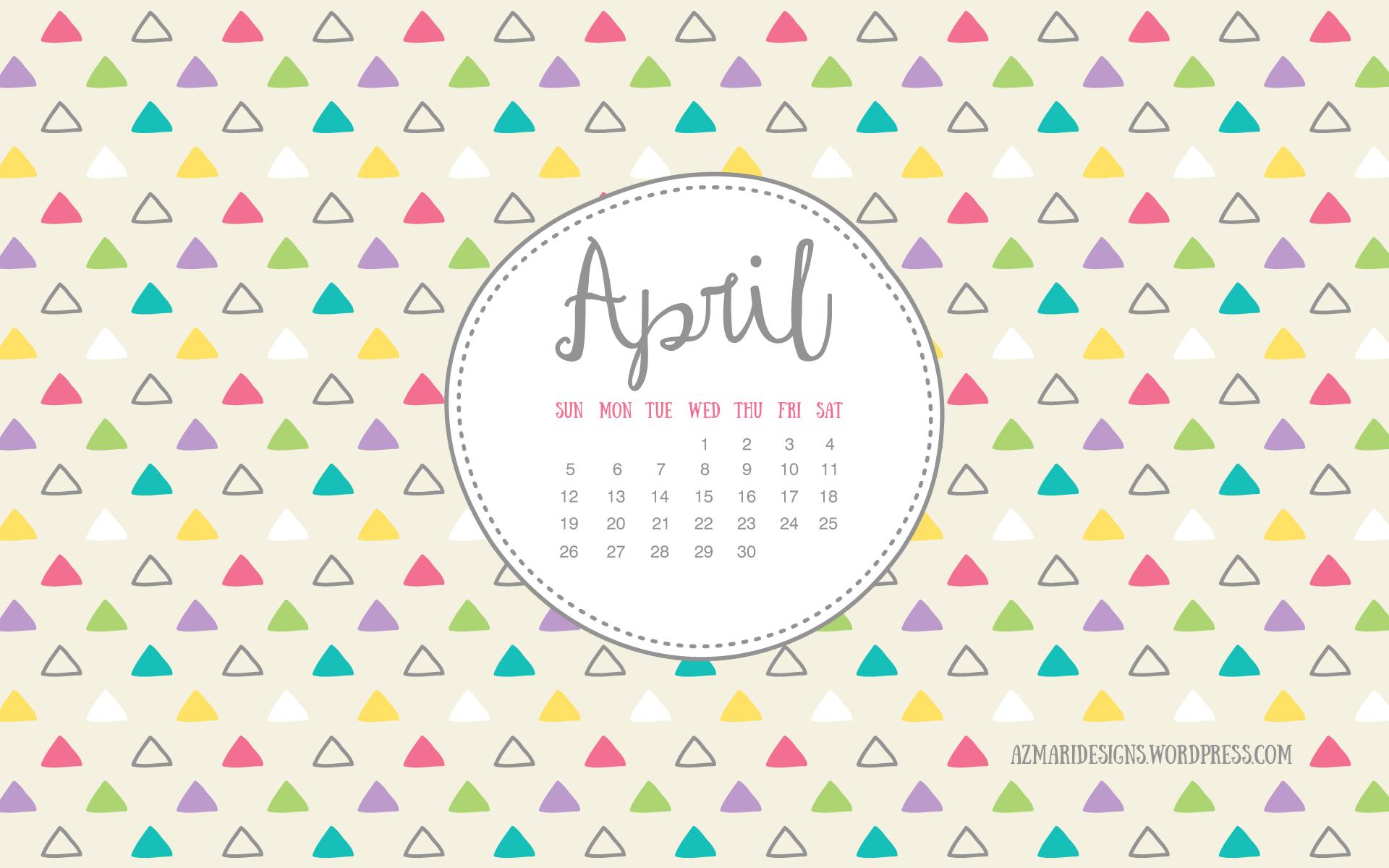 April 2015 Desktop Wallpaper Calendar 1920x1200
