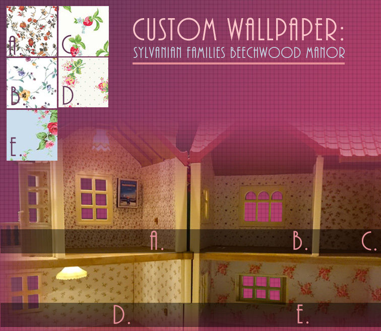 Wallpaper for Sylvanian Families Beechwood Hall SF4531 Calico Critters 756x657