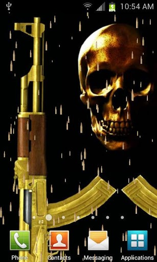 View bigger   Gold AK47 Live Wallpaper for Android screenshot 307x512
