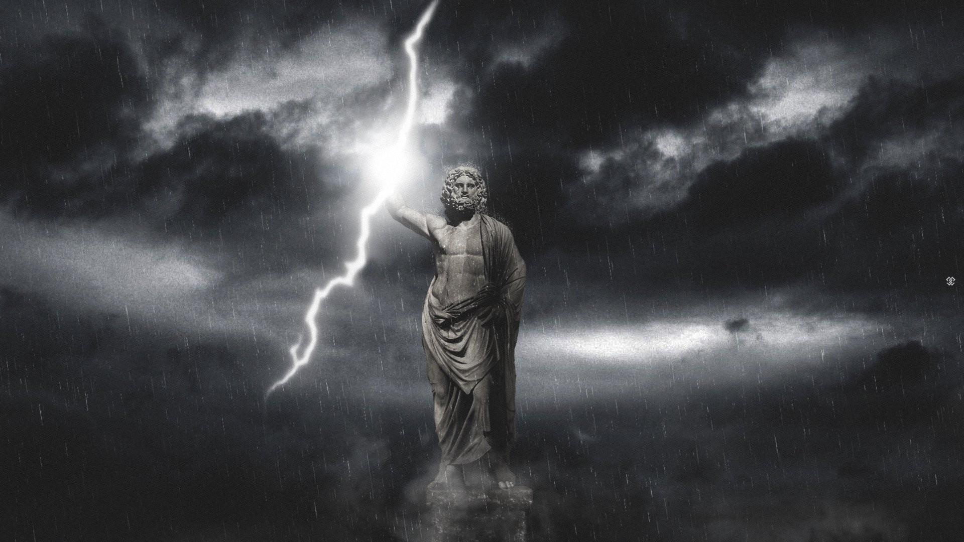 Artworks God Gods Sky Fantasy Desktop Wallpapers Zeus 1920x1080