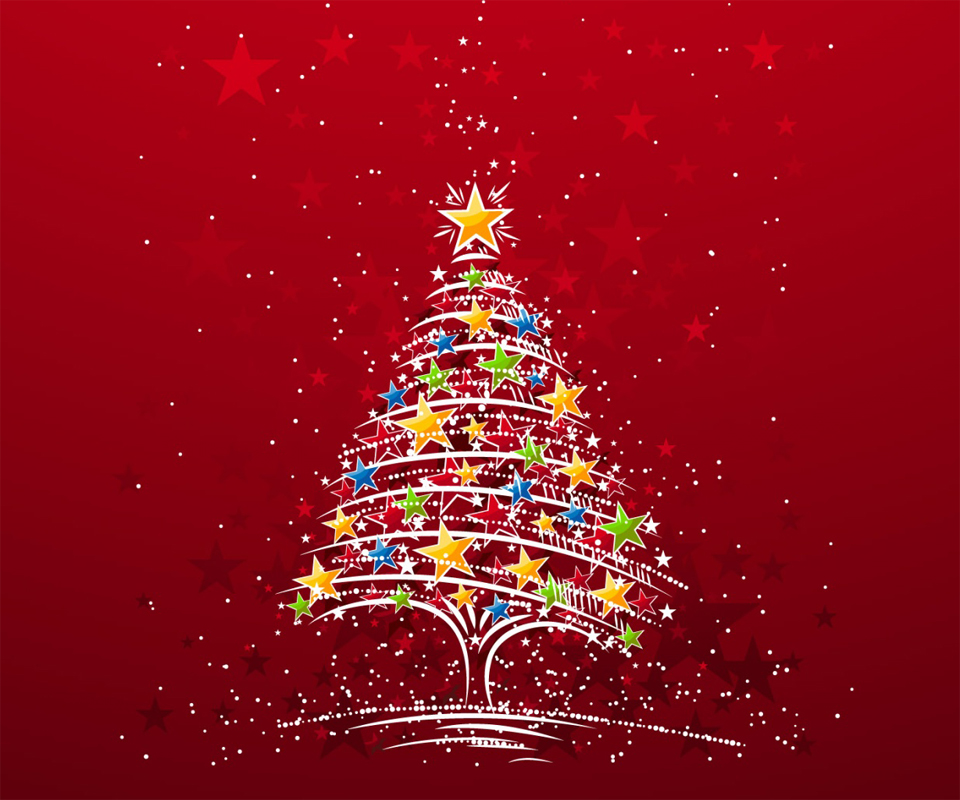 Colorful Christmas Tree Android Wallpapers 960x800 Mobile Phone 960x800