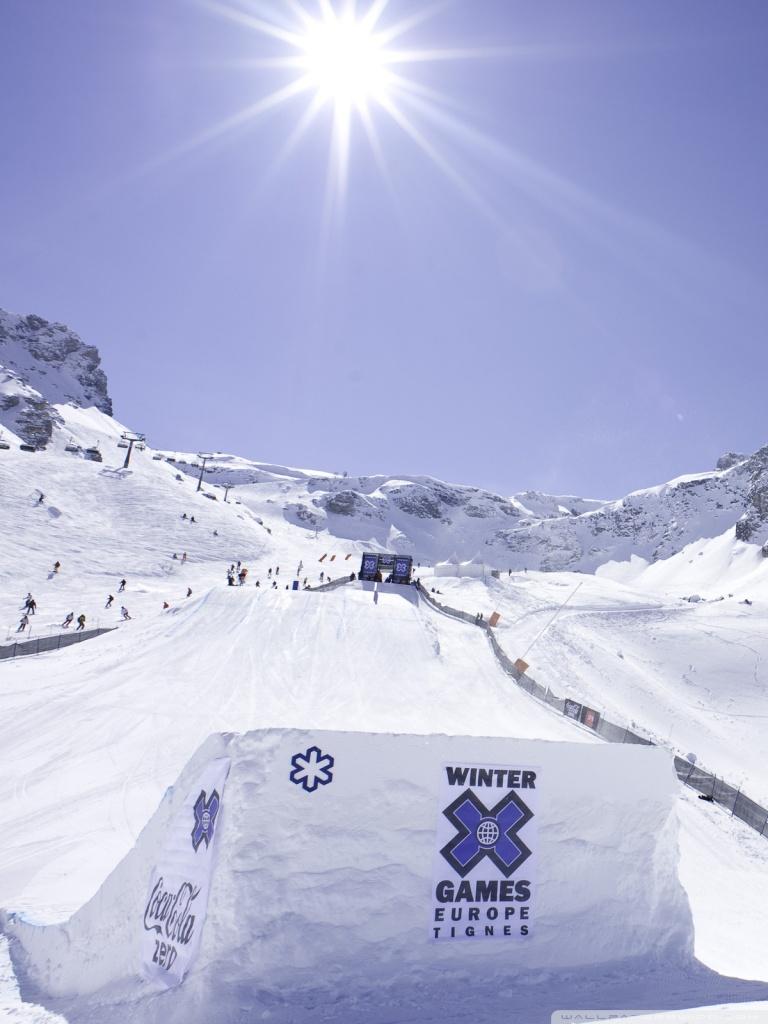 Winter Games Europe Tignes 4K HD Desktop Wallpaper for 4K Ultra 768x1024