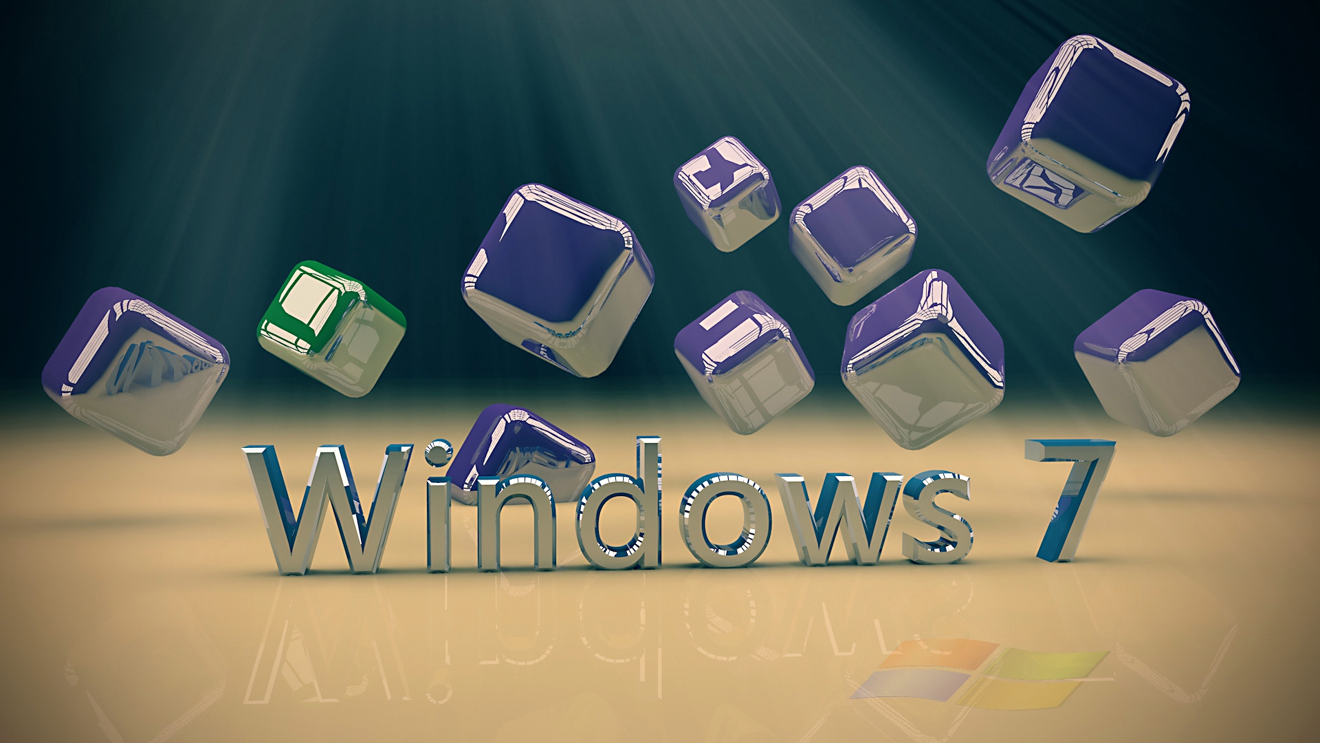 Wallpaper Windows 7 Computer Operating System Cube 1920x1080