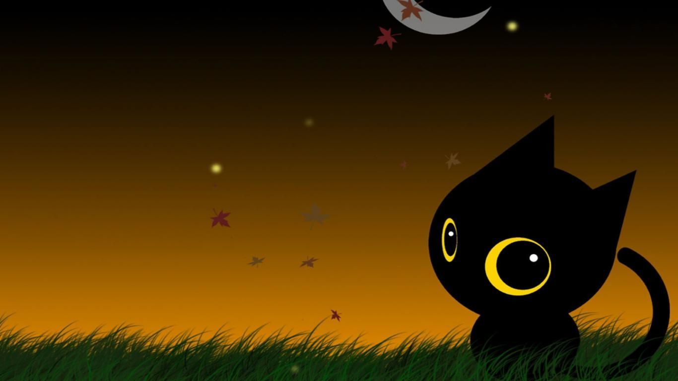 65 Cute Halloween Cats Wallpapers   Download at WallpaperBro 1366x768