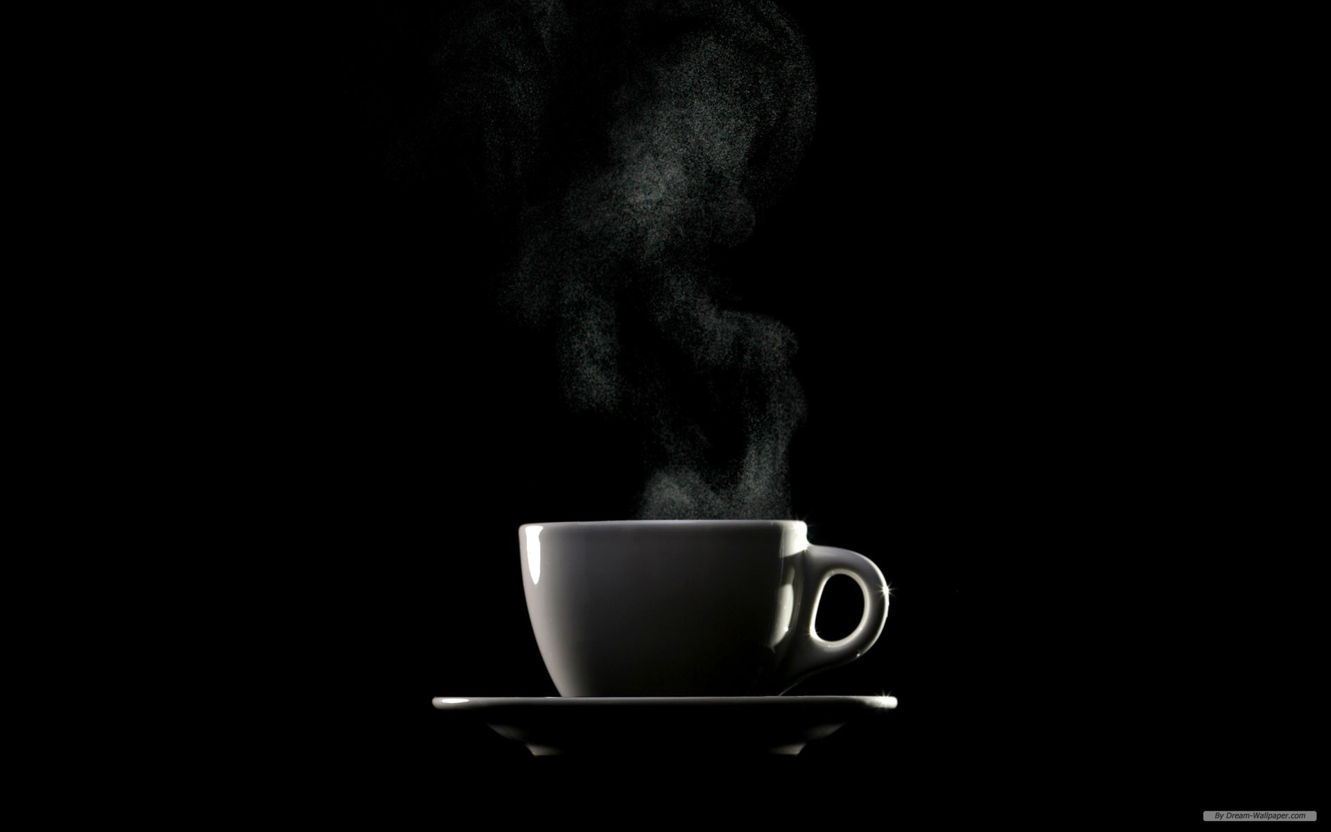Steaming Coffee Cup A Pondering Mind 1920x1200