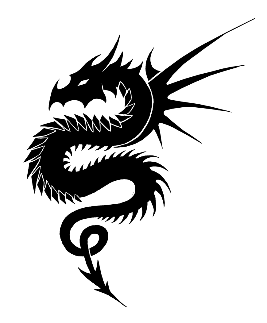 dragon black and white tribal wallpaper cliparts that you can 870x1053