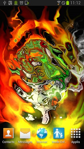 Skull Soldier Weed Parallax 3D is an original and surprising live 288x512