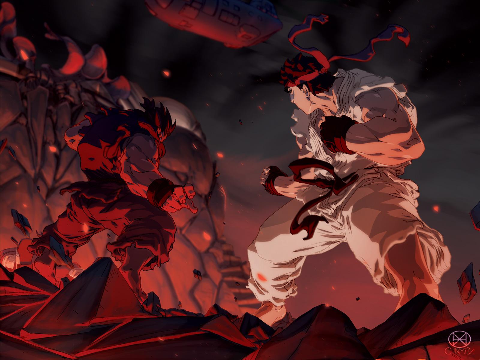 50 Akuma Vs Ryu Wallpaper On Wallpapersafari