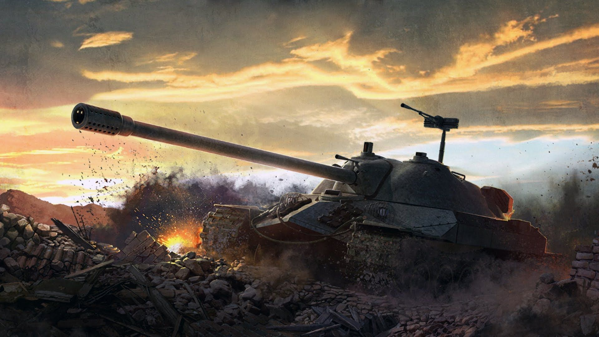 Picture World of Tanks SPG Jagdpanzer E Games Art Wallpapers 1920x1080