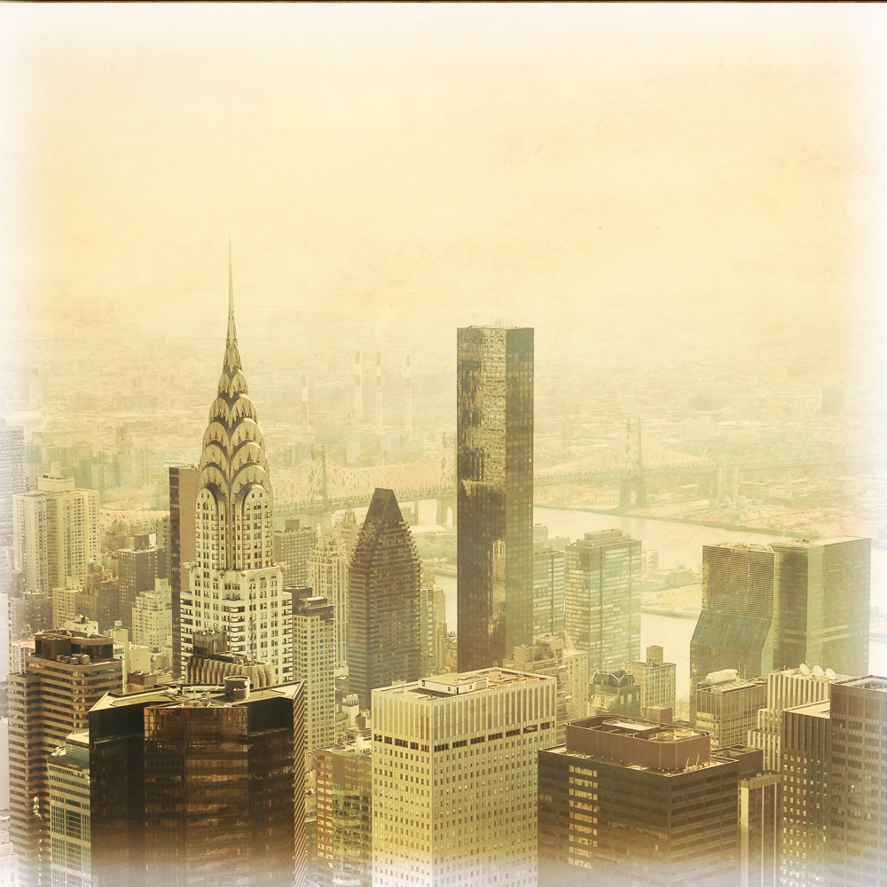 New York City Manhattan Grunge Skyline Wall Mural ohpopsi Wallpaper 1000x1000