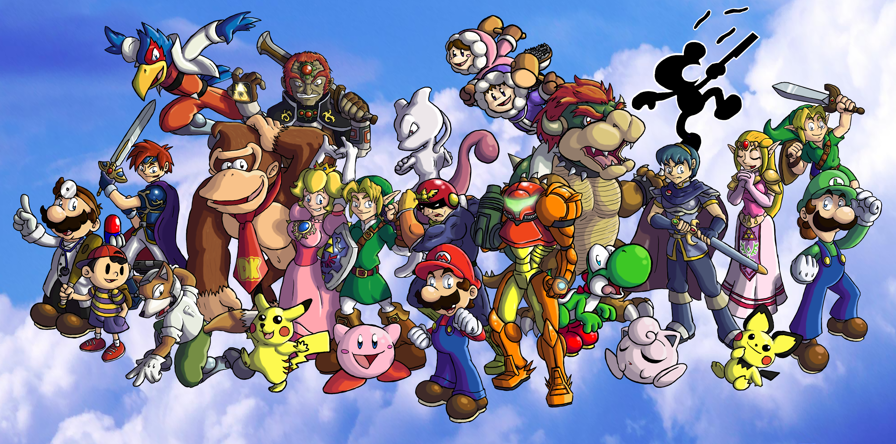 Free Download Super Smash Bros Melee By Chetrippo 3010x1492 For