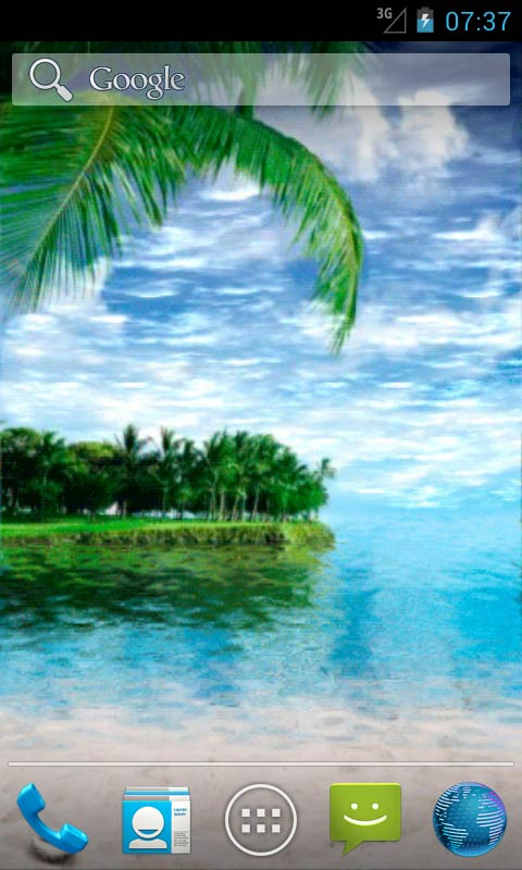 Download Summer Paradise Live Wallpapers for your Android phone 480x800