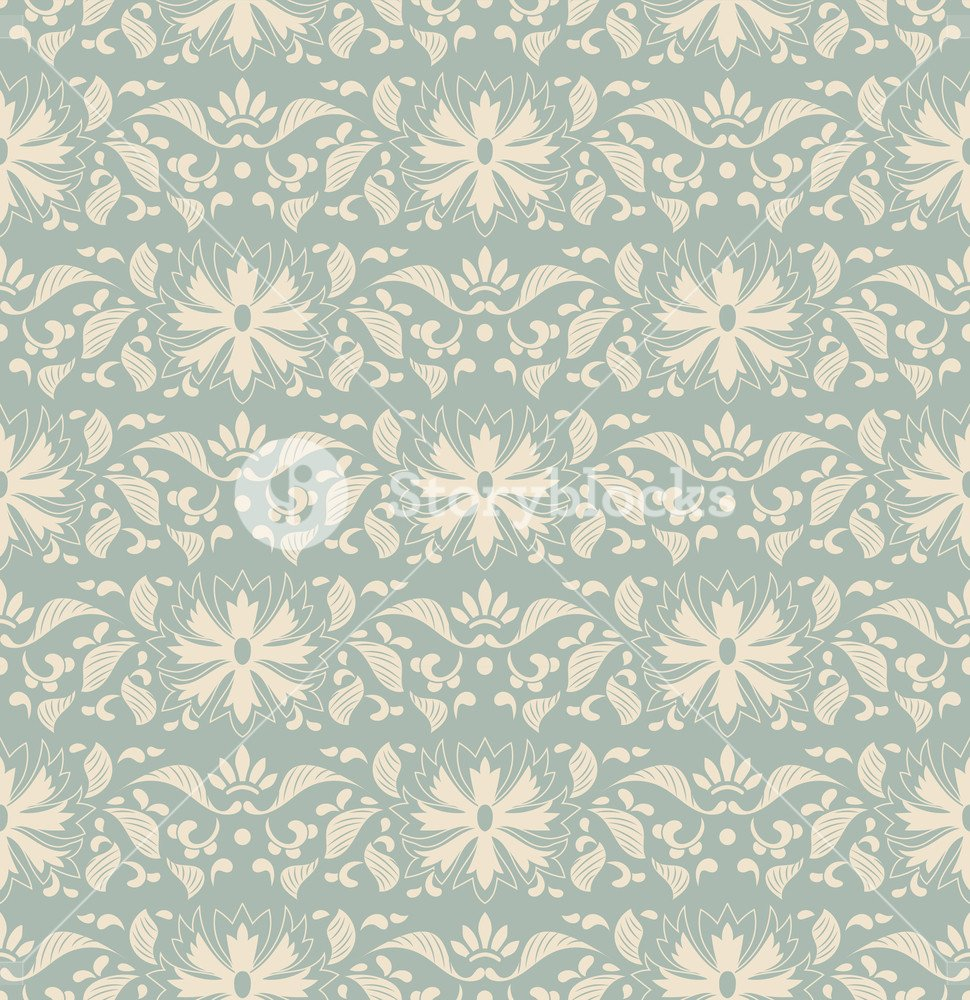 Antique seamless background botanic garden nature leaf flower 970x1000