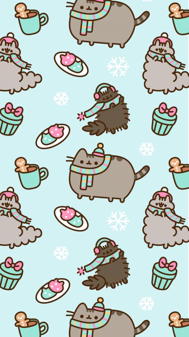 pusheen pusheen cat winter wallpaper and wallpaper   image 720x1280