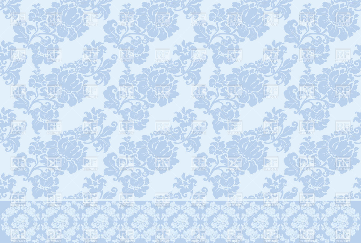 Blue seamless victorian wallpaper with floral pattern download 1200x808