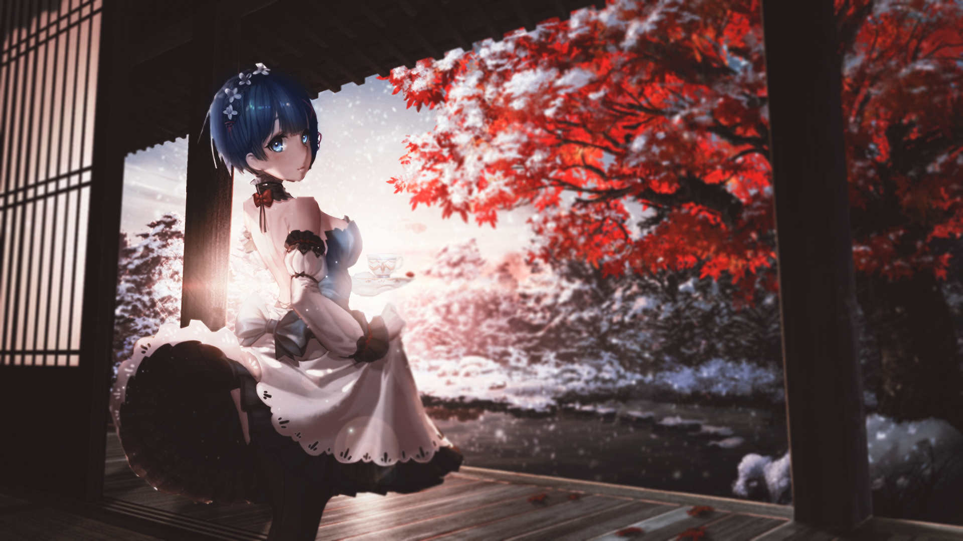 1298 Rem ReZERO HD Wallpapers Background Images 1920x1079