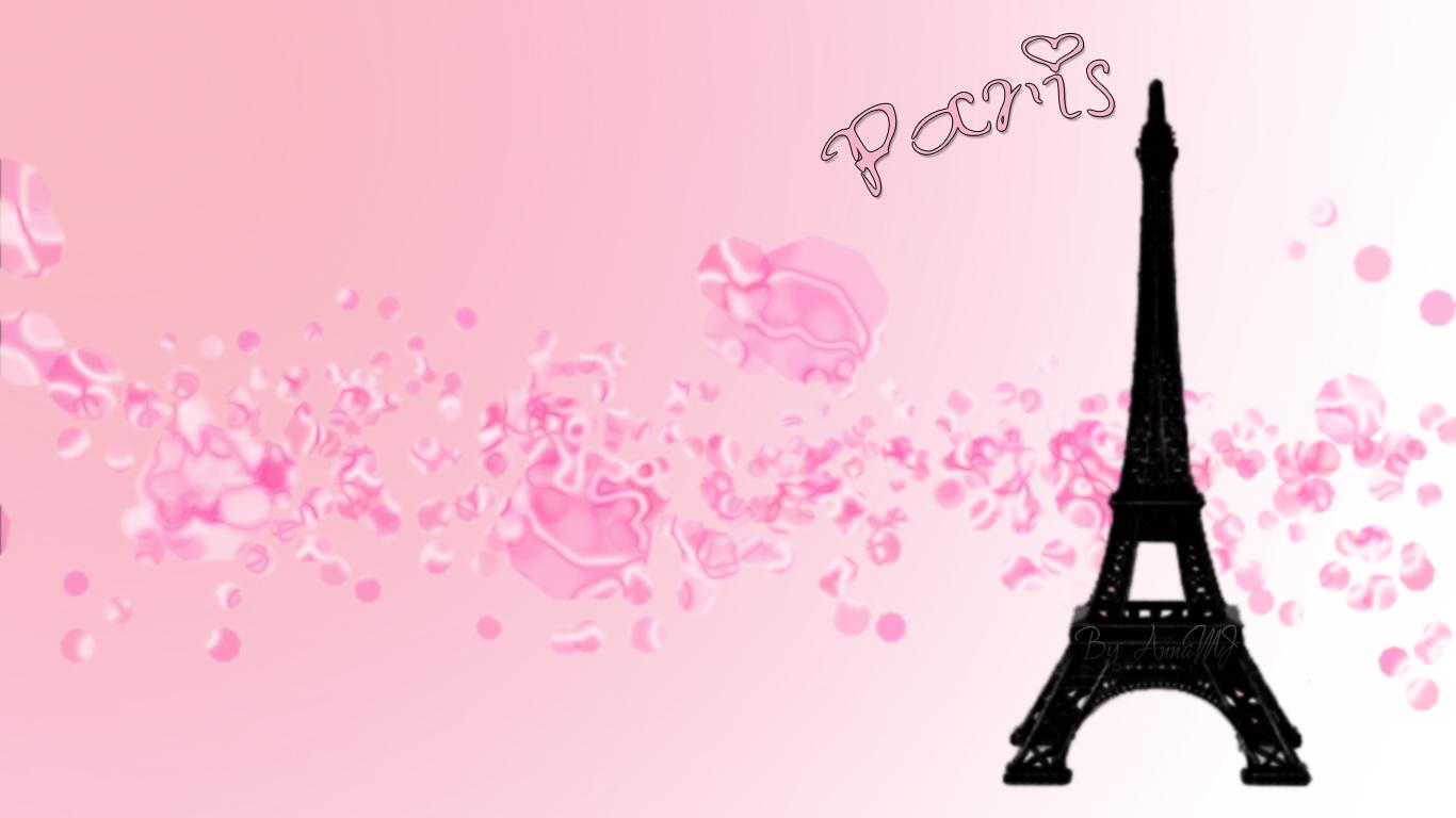 Pink Paris Wallpaper Popular Photography 1366x768