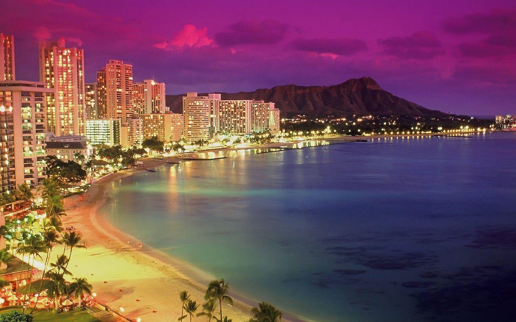 40 Waikiki Beach Sunset Wallpapers   Download at WallpaperBro 1680x1050