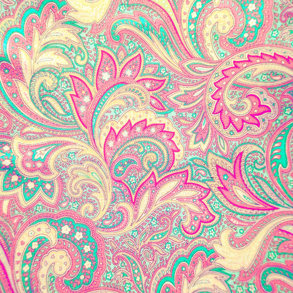 Pink Turquoise Girly Chic Floral Paisley Pattern Rug By: Large Paisley Print Wallpaper