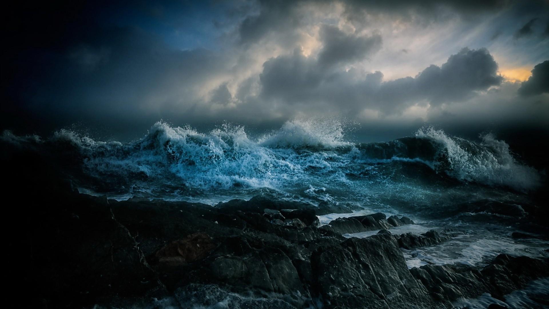 Stormy Ocean Wallpaper 37 Modern Stormy Ocean 1920x1080