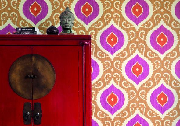 Boho Chic Wallpaper Boho chic 81101 room 590x414