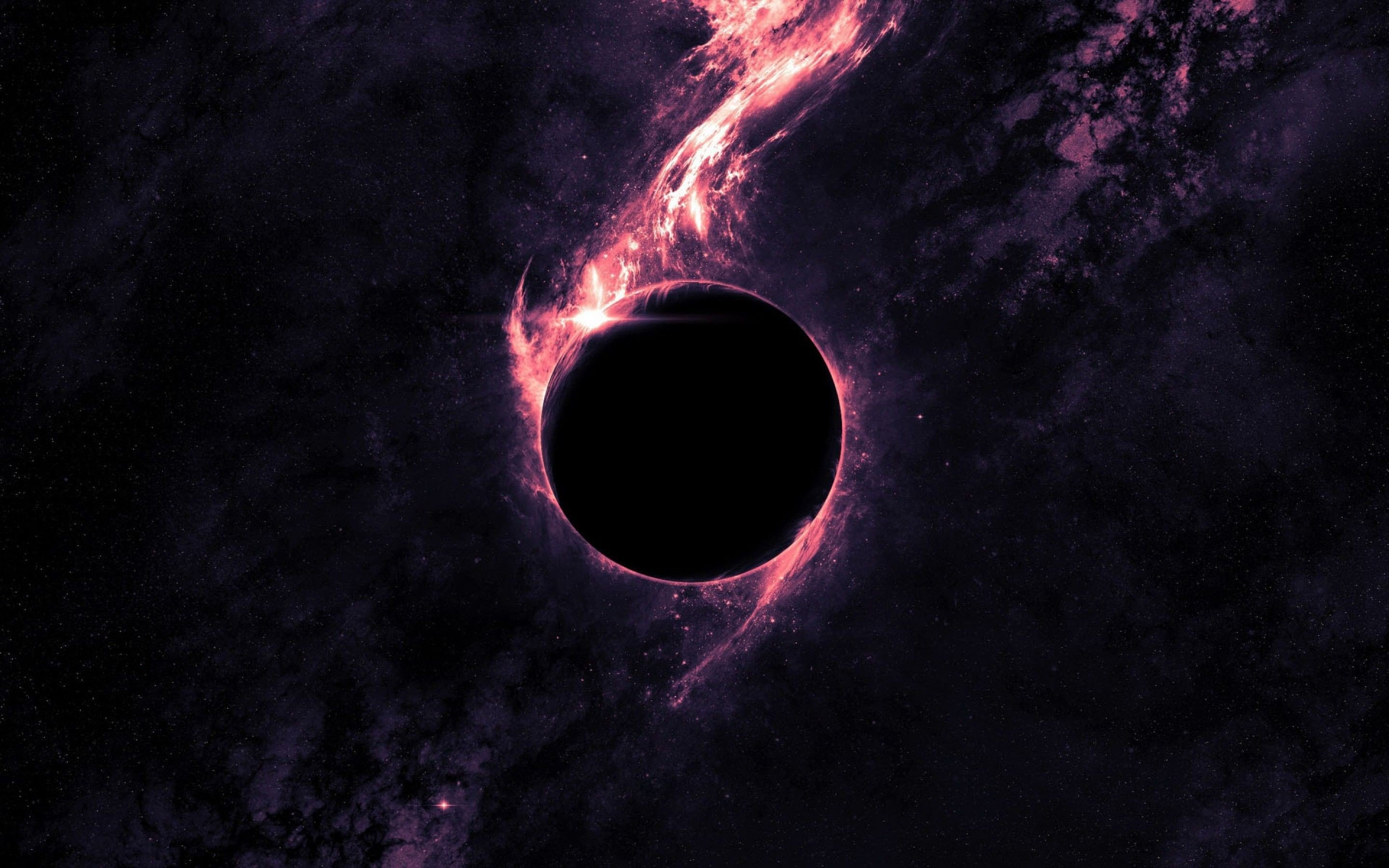 74 Black Hole Wallpapers on WallpaperPlay 2880x1800