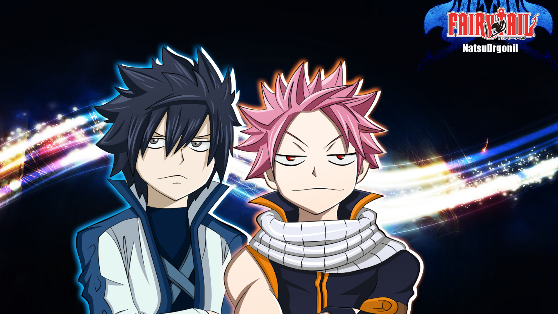 gray fullbuster and natsu dragneel fairy tail anime hd wallpaper full 1920x1080