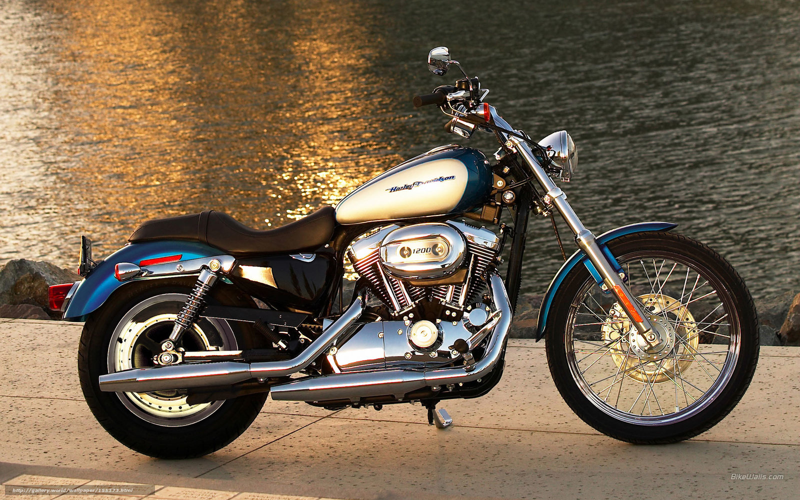 Download wallpaper Harley Davidson Sportster XL 1200C 1600x1000