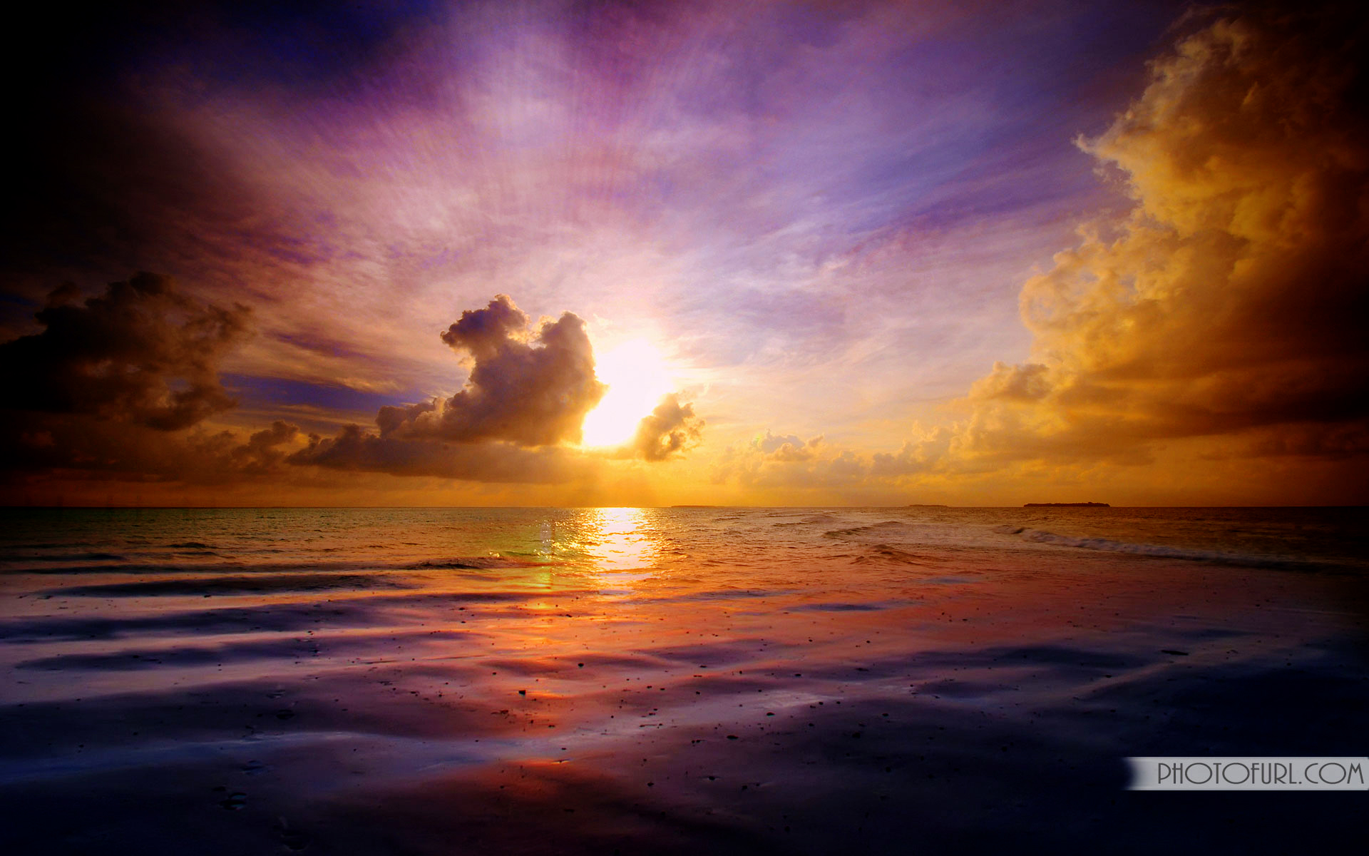 Gallery For gt Beautiful Tropical Island Sunset 1920x1200