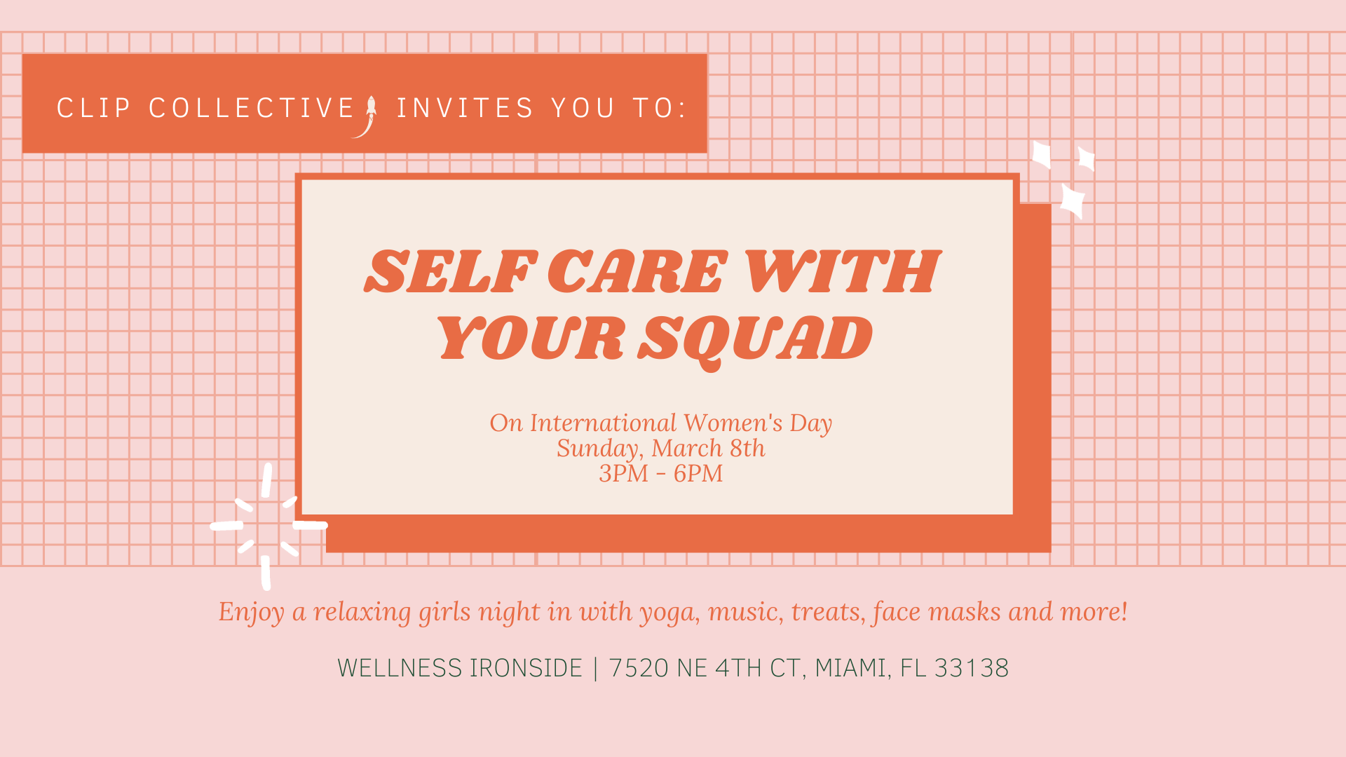 International Womens Day Self Care with Your Squad Tickets 1920x1080