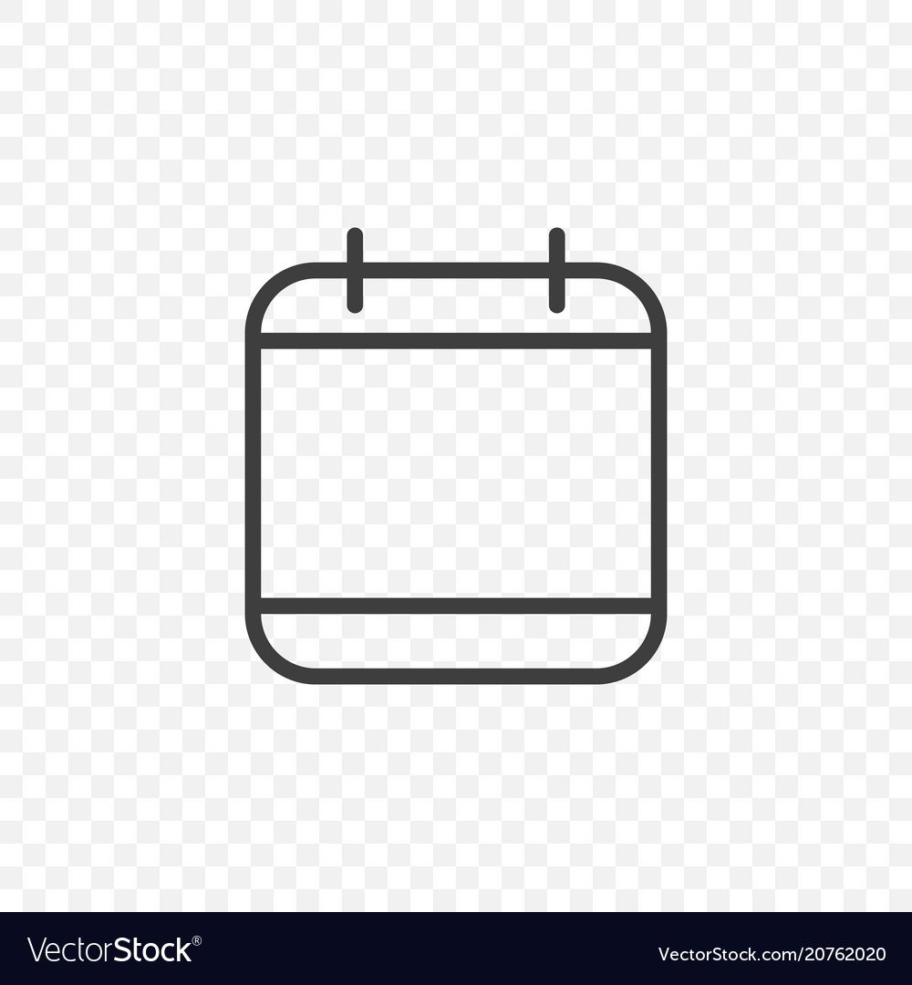 Calendar icon on a transparent background easy Vector Image 1000x1080