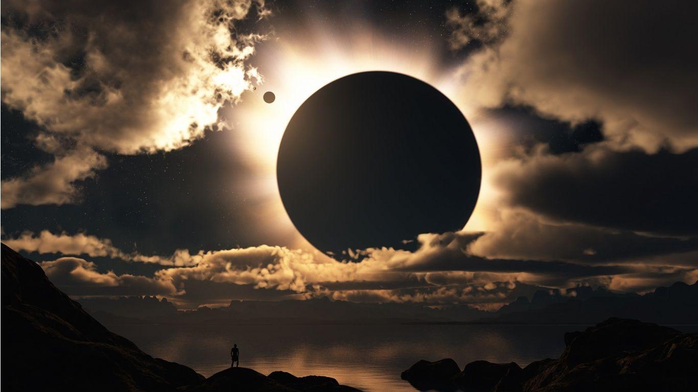 Solar Eclipse For Desktop wallpaper 1366x768 34610 Images 1366x768
