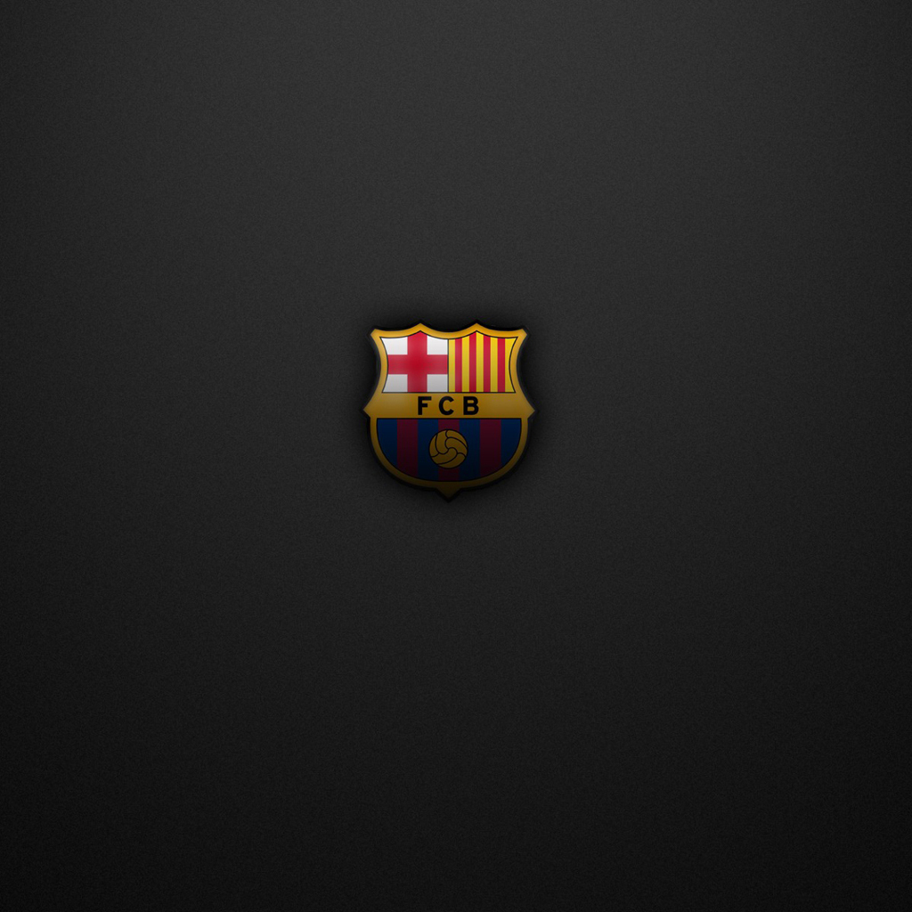 FC Barcelona logo   wallpaper for download 1024x1024
