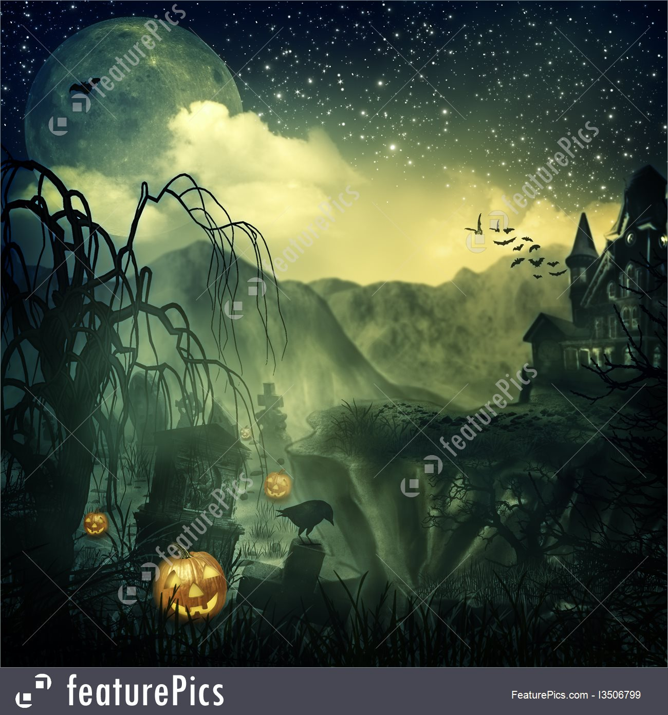 Scary Halloween Background 1300x1392