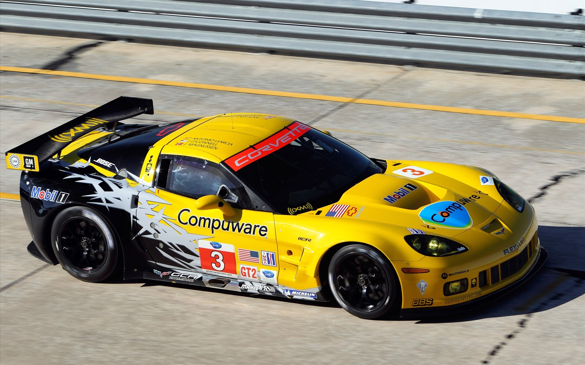 Corvette Racing Sebring 2010 wallpapers 19201200 Hot Cars Zone 1920x1200