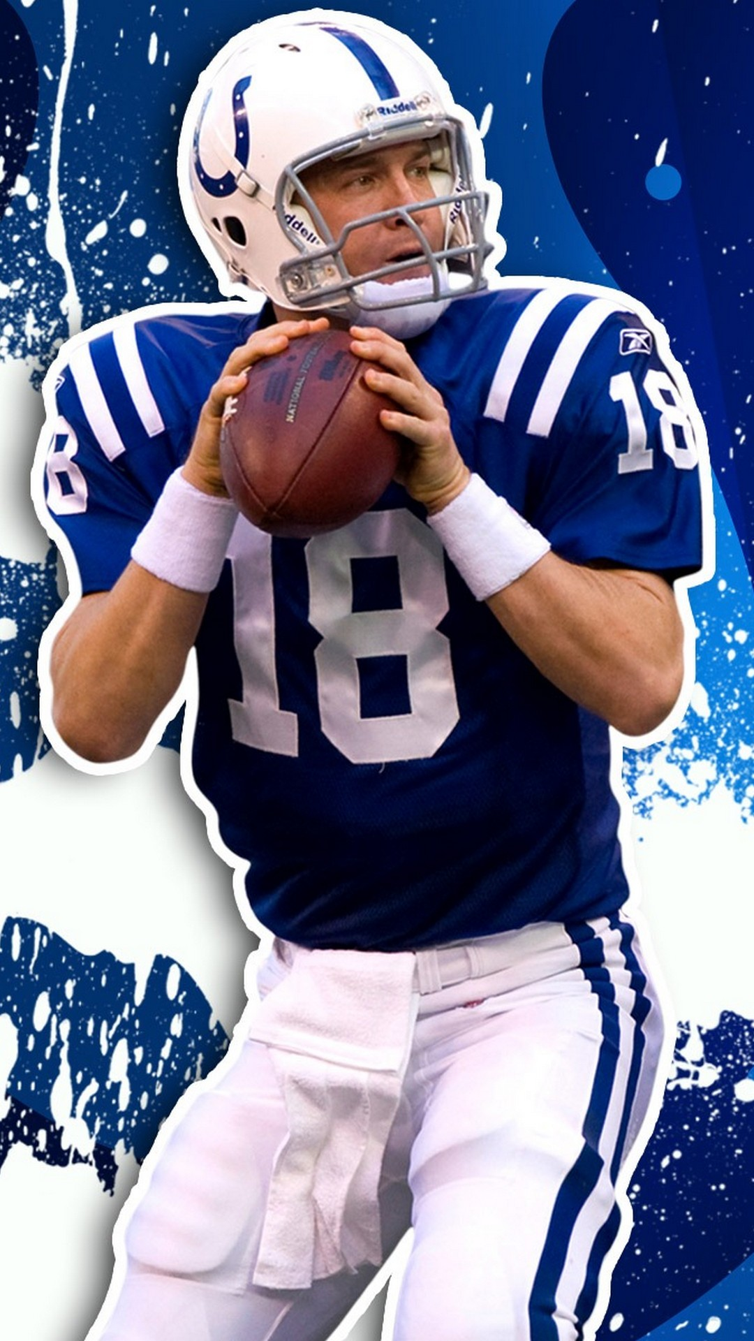 iPhone Wallpaper HD Peyton Manning Indianapolis Colts 2019 NFL 1080x1920